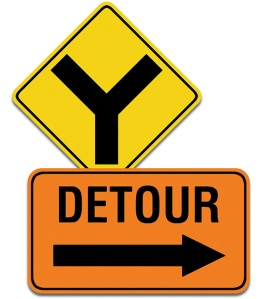 fork-detour-signs