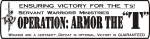 Armor the T generic button victory for the t's